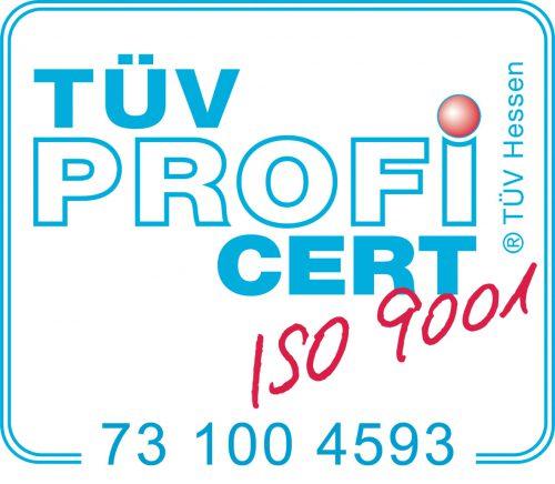 Zertifizierung nach ISO9001, TÜV Cert